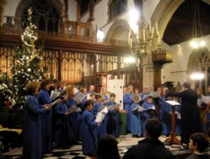 Xmas tree & choir